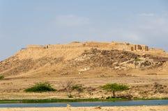 Sumhuram slott, Khor Rori, Salalah, Dhofar, sultanat av Oman arkivfoto