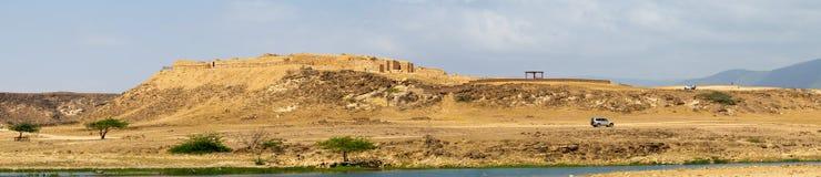 Sumhuram slott, Khor Rori, Salalah, Dhofar, sultanat av Oman royaltyfri fotografi