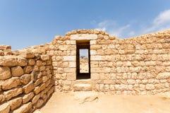 Sumhuram slott, Khor Rori, Salalah, Dhofar, sultanat av Oman royaltyfria foton