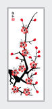 Sumi-e plum. Plum vector illustration in Chinese art style Stock Images