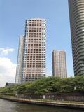 Sumida-Fluss in Tokyo Lizenzfreies Stockbild