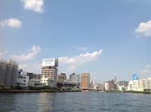 Sumida-Fluss in Tokyo Lizenzfreie Stockfotos