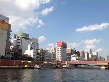 Sumida-Fluss in Tokyo lizenzfreie stockbilder