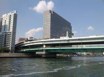 Sumida-Fluss in Tokyo Stockfoto