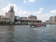 Sumida-Fluss in Tokyo Stockbild