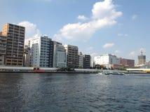 Sumida-Fluss in Tokyo Stockbilder