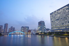 Sumida river in central Tokyo ,Japan Stock Photo