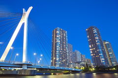 Sumida river in central Tokyo ,Japan Stock Images
