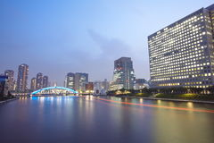 Sumida river in central Tokyo ,Japan Royalty Free Stock Photography
