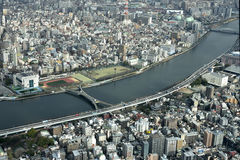 Sumida River. The Sumida River flows through urban areas of Tokyo , Japan Stock Photography
