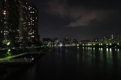 Sumida river. This picture was took at the bridge that cross sumida river in Etchujima Royalty Free Stock Photos