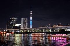 Sumida river in Tokyo. Japan Royalty Free Stock Image