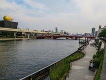 Sumida River, Tokyo, Japan. View of Sumida River in Tokyo, Japan Stock Photo
