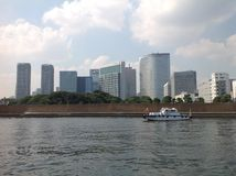 Sumida river in Tokyo. September 2014 Royalty Free Stock Images