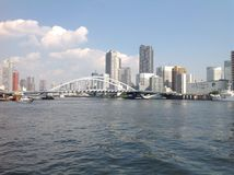 Sumida river in Tokyo. September 2014 Stock Photography