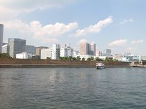 Sumida river in Tokyo. September 2014 Royalty Free Stock Image