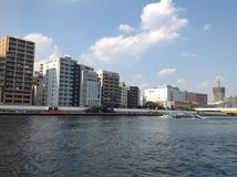 Sumida river in Tokyo. September 2014 Stock Photo