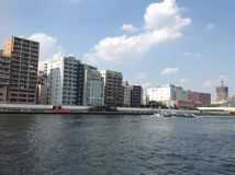 Sumida river in Tokyo. September 2014 Stock Images