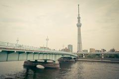 Sumida river with Tokyo Skytree in Asakusa Tokyo Royalty Free Stock Photo
