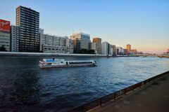 Sumida Rivers. In Tokyo Royalty Free Stock Photo