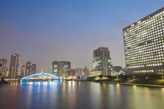 Sumida rzeka w środkowy Tokio, Japonia Fotografia Royalty Free