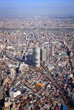 Sumida Ward, Tokyo. Tokyo cityscape - aerial city view with Sumida ward. Mukojima and Kyojima neighborhoods Stock Image
