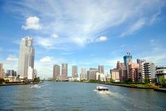 Sumidagawa-Fluss in Tokyo Lizenzfreie Stockfotografie