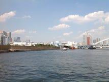 Sumidarivier in Tokyo Stock Foto's