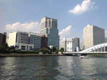 Sumidarivier in Tokyo Stock Afbeeldingen