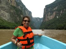 Sumidero Canyon Boat Tour Stock Photo