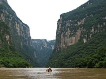Sumidero Canyon-Chiapas Royalty Free Stock Photos