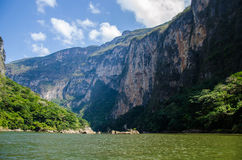 Sumidero canyon in Mexico Royalty Free Stock Image