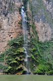 Sumidero Canyon waterfall, Mexico royalty free stock photos
