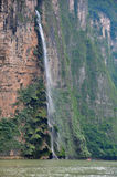 Sumidero Canyon waterfall, Mexico royalty free stock image