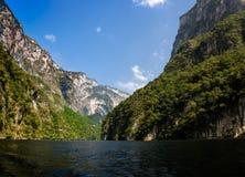 Sumidero kanjon - Chiapas, Mexico Arkivbilder