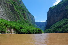 Sumindero Canyon, Chiapas, Mexico. Flooding waters in the Sumindero Canyon, Chiapas, Mexico stock image