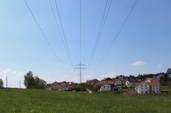 Suministro de electricidad Fotografía de archivo libre de regalías