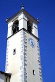 Sumirago  abstract in  italy   and church tower bell sunny day Royalty Free Stock Photography