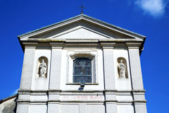 sumirago cross church varese italy   wall in the sky sunny day Stock Photo