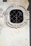 Sumirago cross varese italy    and mosaic wall in the sky sunny Royalty Free Stock Photo