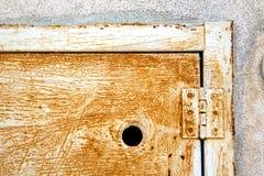 Sumirago de acero abstracto de Varese Italia de la puerta Imágenes de archivo libres de regalías