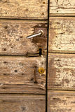 Sumirago  s   knocker in a  door curch  closed wood italy  lomba Stock Images