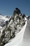 Sumit della roccia nelle alpi della Svizzera Fotografia Stock Libera da Diritti