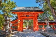 Sumiyoshi盛大寺庙在大阪 库存图片