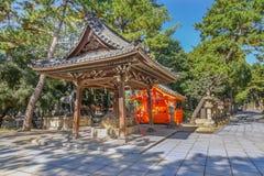 Sumiyoshi盛大寺庙在大阪 免版税图库摄影