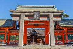 Sumiyoshi盛大寺庙在大阪 库存照片