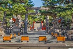 Sumiyoshi盛大寺庙(Sumiyoshi-taisha)在大阪 库存照片