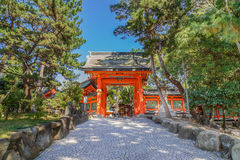 Sumiyoshi Grand Shrine in Osaka Royalty Free Stock Photo