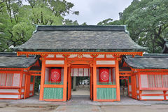Sumiyoshi Shrine  Fukuoka, Japan. Royalty Free Stock Image