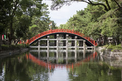 Sumiyoshi Shrine. Osaka's most famous shrine by far is Sumiyoshitaisha (Sumiyoshi Grand Shrine), the headquarters of some 2000 Sumiyoshi shrines throughout Japan Stock Image